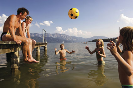 Familie am Attersee