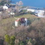Blick von Schoberstein-Aufstieg auf Villa Roth und Weißenbach