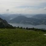 Hochlecken-Aufstieg - Blick auf den Attersee