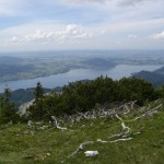 Hochlecken-Aufstieg - Blick auf den nördl. Attersee