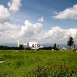 Hochlecken Bergmesse mit Hubschrauber 2008