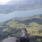 Paragleiter Hochlecken - Blick auf Steinbach