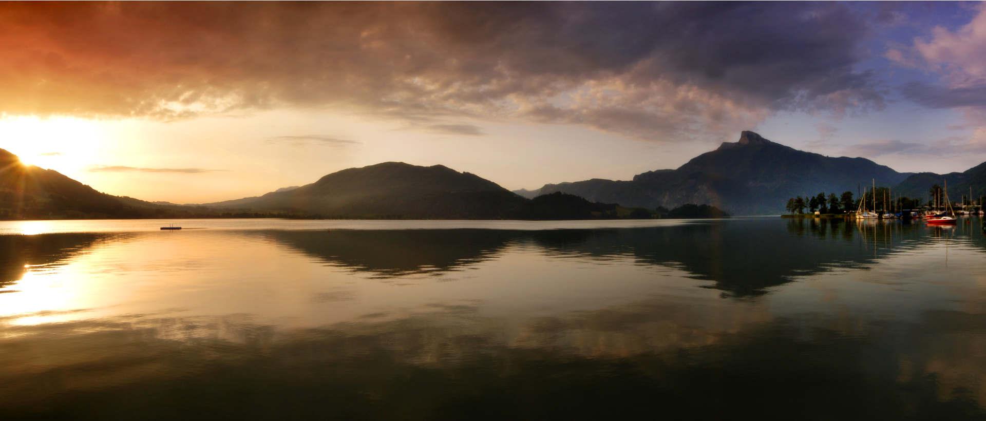 Sonnenuntergang Mondsee © OÖ.Tourismus / Roebl